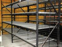 Pallet Rack System with Wire Mesh Shelves