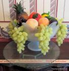 Glass Fruit Bowl Decor