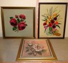 3pc Framed Floral Art