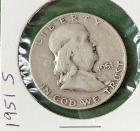 1951S Franklin Half Dollar