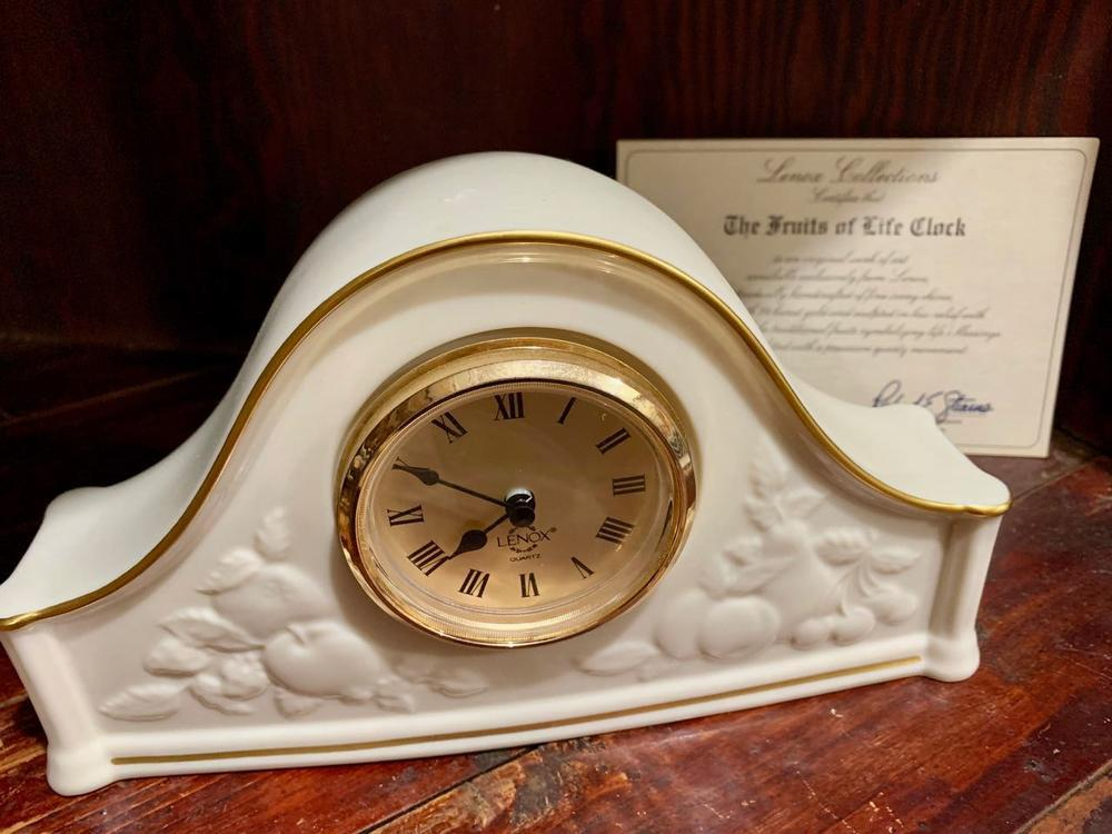 Lot 23lenox Fruits Of Life Clock Made In Usa