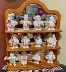 "Lenox ""Twelve Months of Snowmen Collection"" w/Shelf-Snowmen"