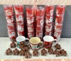 Christmas Cups and Gingerbread Man Candles