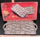 John Wright Cast Iron Alphabet Baking Pan