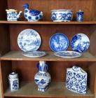 Blue Decor on Shelves