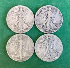 4- 1944 Walking Liberty Half Dollars