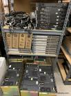 LARGE LOT OF MISC RADIO EQUIPMENT: MOTOROLA SWITCH/CONTROL BOARDS, HP CONTROL BOARDS, MOTOROLA QUANTAR REPEATERS, MISC CABLES/CORDS, HP MINI ARM/WALL VESA MOUNTS- ALL STILL IN BOX
