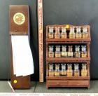 Wood Spice Rack and Memo Board