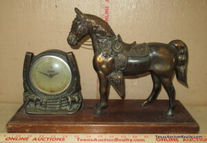 Vintage Electric Horse Clock