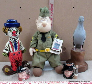 Toby Mugs, Beetle Bailey Doll and Decor
