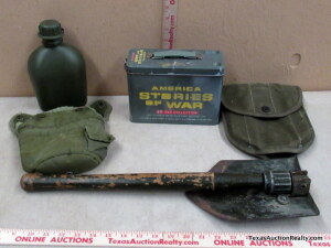 Military Folding Shovel and Accessories