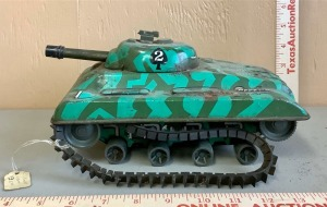 Wind-Up Metal Army Tank Toy