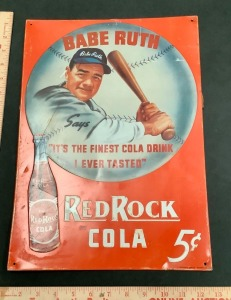Babe Ruth Red Rock Cola Advertising Tin