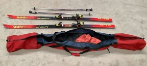 Pair of Snow Skis and Poles with Bag