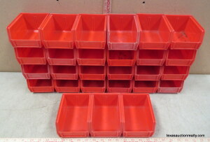27 Red Stackable Parts Trays