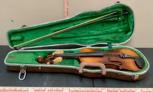Johann Georg Kessler Violin with Case and Bow