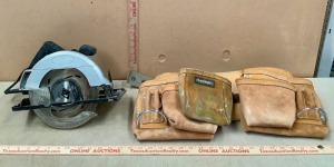 7in Circular Saw and Tool Belt