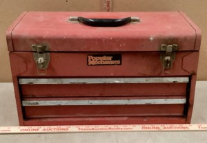 Popular Mechanics Toolbox with Hand Tools