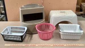 Step Stool and Storage Baskets