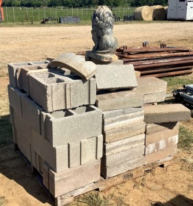 Pallet of Hollow Core and Landscaping Blocks