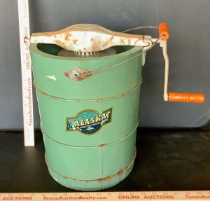 "Vintage ""The Alaska"" Ice Cream Freezer"