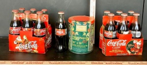 Vintage Coca-Cola Bottles and Puzzle