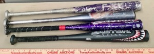 4 Metal Youth Baseball Bats