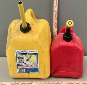 2 Plastic Fuel Cans