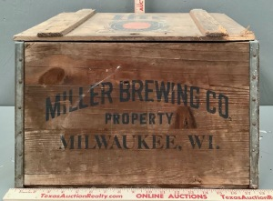 Miller Lite Beer Wood Crate