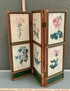 3 Panel Floral Folding Screen
