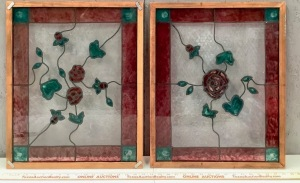 Framed Plastic Simulated Stained Glass Decor