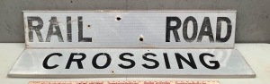 Metal Railroad Crossing Sign