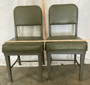 Metal Chairs with Cushion Seats