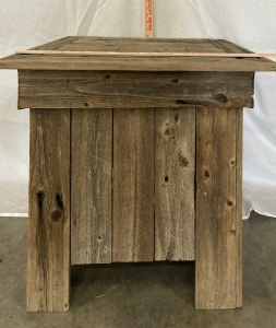 Barn Wood End Table