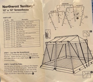 North West Territory 12' x 12' Screen House