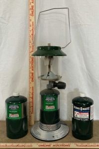 Worthington Lantern and 2 Propane Bottles