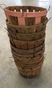 10 Old Half Bushel Baskets