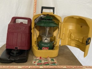 Coleman Carry Case with Coleman Lantern and Spare Coleman Propane Lantern Case Only