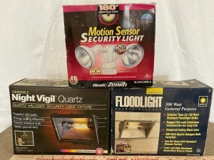 Motion Sensor Security Light, Quartz Halogen Security Light, Flood Light