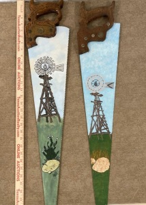 Windmills Painted on Saws