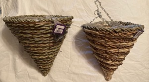 Cone Shap Wicker Hanging Baskets