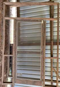Screen Door with Cedar Frames
