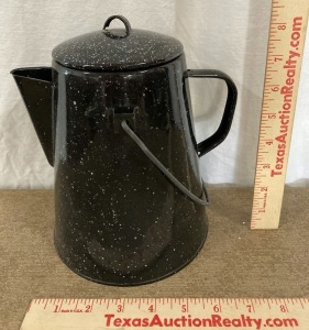 Speckled Camping Coffee Pot