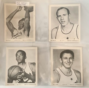 4- 1967 Seattle Supersonics Trading Cards