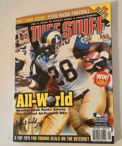 Tuff Stuff Magazine - January 2002 - Marshall Faulk Cover