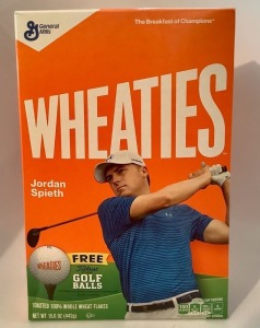 Jordan Spieth Wheaties Box