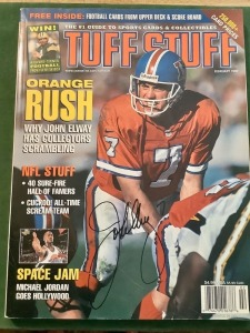 Tuff Stuff Magazine - February 1997 - John Elway Cover