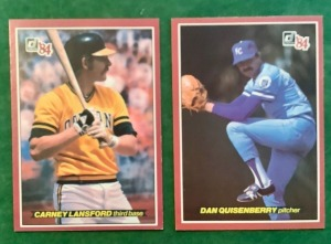 2- Donruss 1984 Baseball Trading Cards