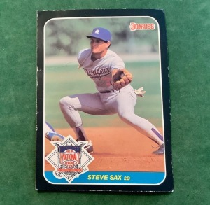Donruss 1986 Steve Sax All Star Trading Card