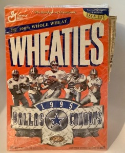 Dallas Cowboys 1995 Super Bowl XXX Wheaties Box